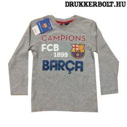 Fc Barcelona gyerek póló - eredeti, hivatalos klubtermék (szürke)