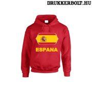 Espana feliratos kapucnis pulóver (piros) - spanyol válogatott szurkolói pullover / pulcsi