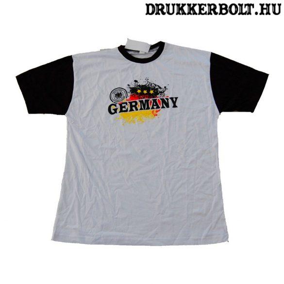Deutschland feliratos rövidujjú pamut póló (fehér) - német szurkolói póló