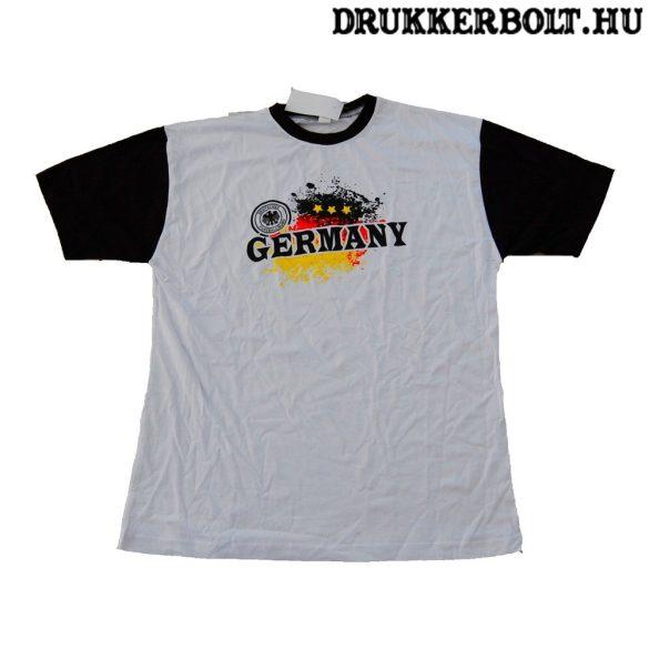 Németország pamut póló (fehér) - német szurkolói póló