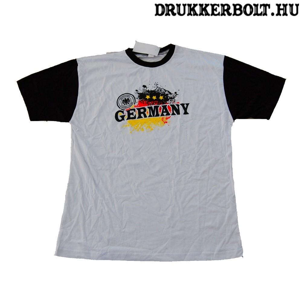 Németország pamut póló (fehér) - német szurkolói póló - Magyarország ... 39a0c0a763