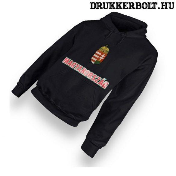 Hungary vagy Magyarország feliratos kapucnis pulóver (fekete) - magyar válogatott  pulcsi 7bab7ef760