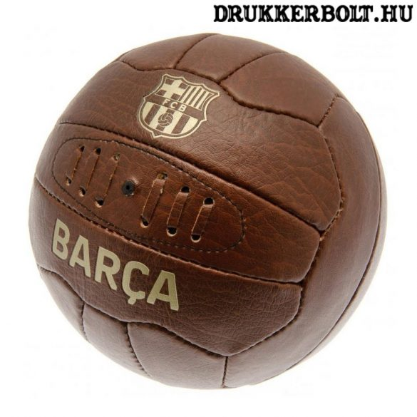 FC Barcelona retro bőrlabda - eredeti gyűjtői termék!