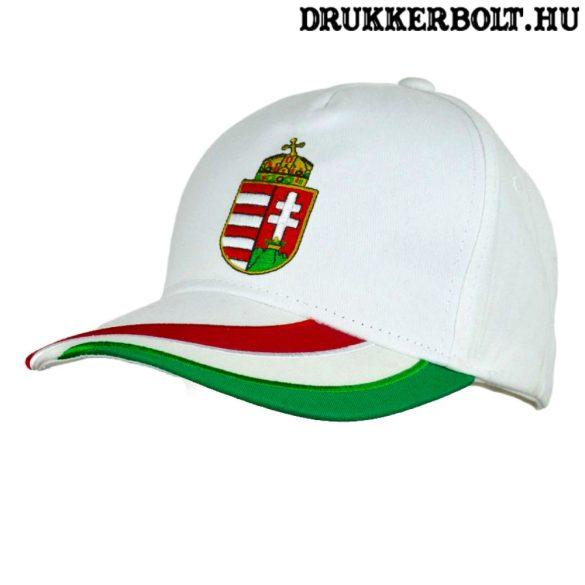 Magyarország Baseball sapka - magyar válogatott baseballsapka Hungary felirattal (fehér)