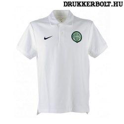 Nike Ferencváros galléros póló (fehér) - Fradi címeres galléros szurkolói póló