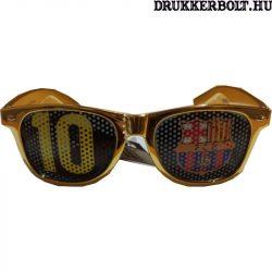 """FC Barcelona """"Messi"""" napszemüveg - hivatalos FCB klubtermék (arany)"""