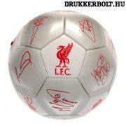 """Liverpool FC labda """"Silver Signature"""" - normál (5-ös méretű) Liverpool címeres focilabda a csapat tagjainak aláírásával"""