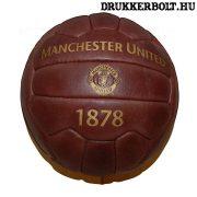 Manchester United retro bőrlabda - eredeti gyűjtői termék!