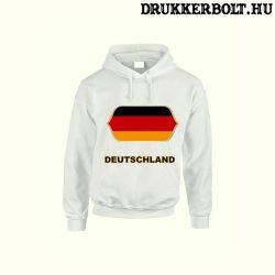 Deutschland feliratos kapucnis pulóver (fehér) - német válogatott szurkolói pullover / pulcsi