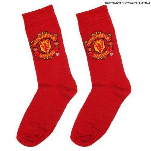 Manchester United címeres zokni (felnőtt 40-45)