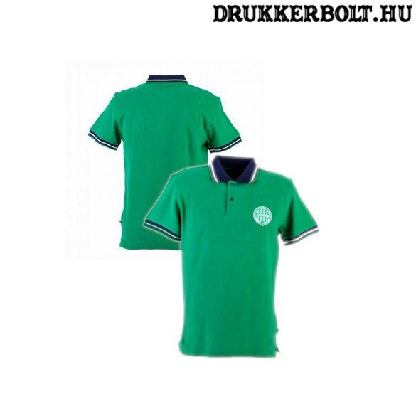 SAXOO Ferencváros zöld póló - Fradi címeres ingnyakú szurkolói póló