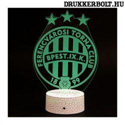 Ferencváros címeres LED lámpa - hivatalos FTC klubtermék Fradi címerrel
