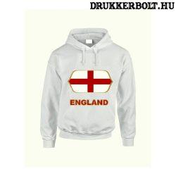 England feliratos kapucnis pulóver (fehér) - angol válogatott szurkolói pullover / pulcsi