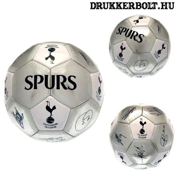 """Tottenham labda  """"Silver Signature"""" - normál (5-ös méretű) Tottenham címeres focilabda a csapat tagjainak aláírásával"""