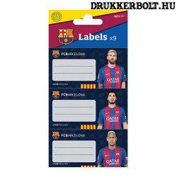 FC Barcelona füzetcímke szett (18 db) - hivatalos szurkolói termék (Barca)