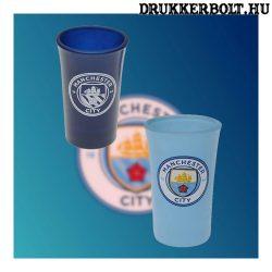 Manchester City felespohár - üveg kupicás pohár City szurkolóknak
