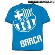 Fc Barcelona rövidujjú póló - Barca póló gyerek méretekben (világoskék)