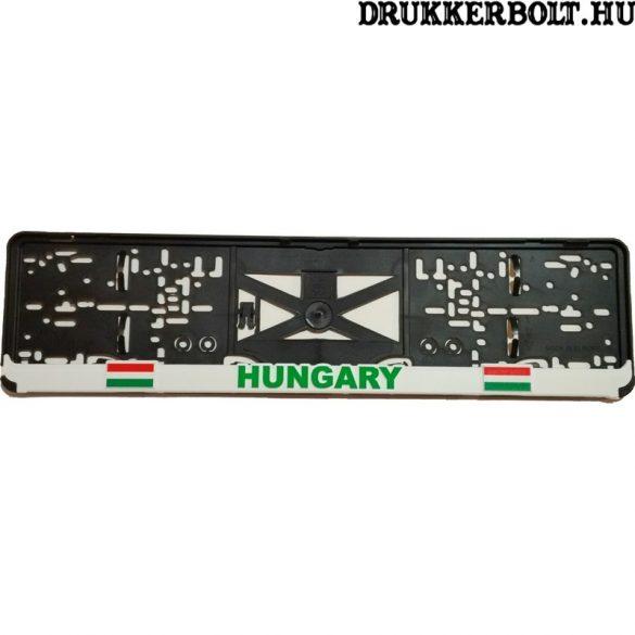 Hungary rendszámtábla tartó (2 db) - Magyarország szurkolói termék (fehér kerettel)