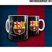 """F.C. Barcelona kerámia bögre """"Negro"""" - hivatalos, eredeti termék"""