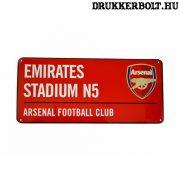 Arsenal FC utcanévtábla (piros)- eredeti, hivatalos klubtermék