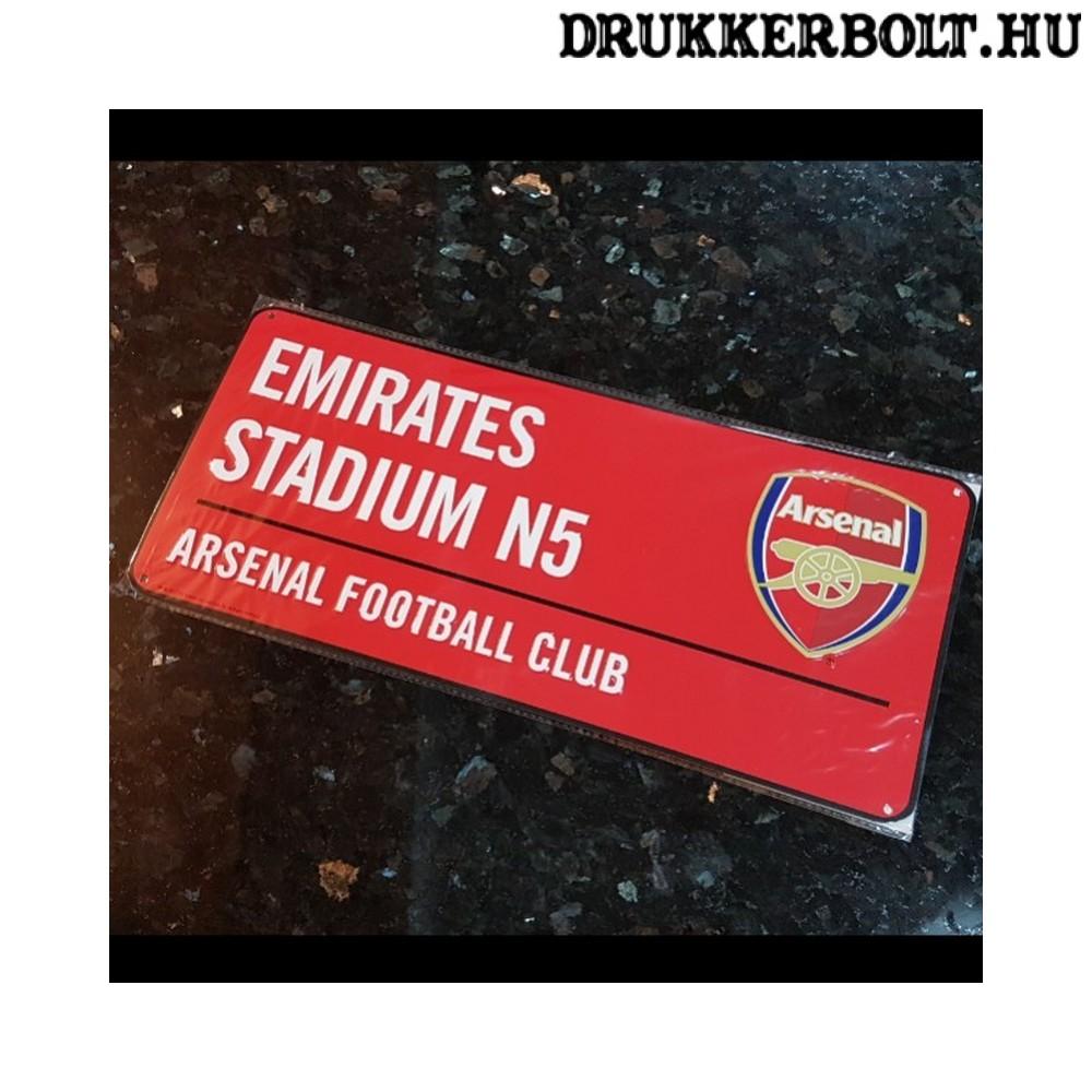 Arsenal FC utcanévtábla (piros)- eredeti 0dadc804ee