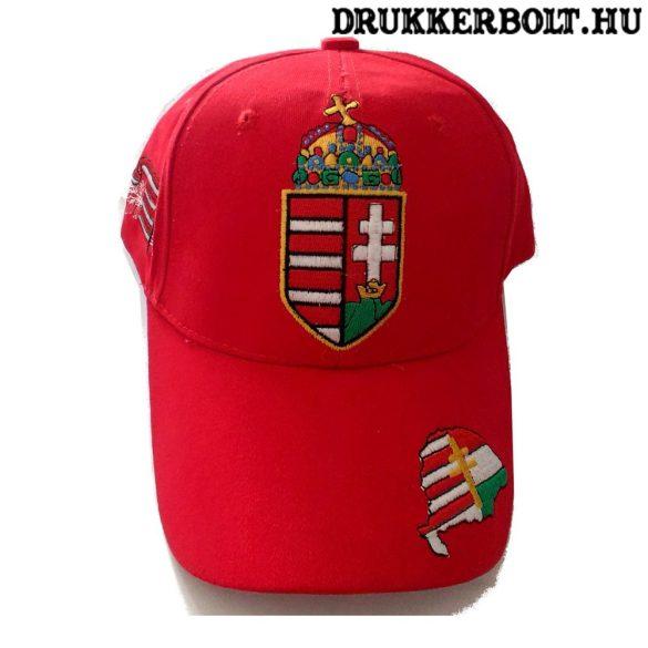Hungary Baseball - piros, címeres baseballsapka (magyar válogatott)