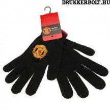 Manchester United fekete kötött kesztyű - hivatalos szurkolói termék