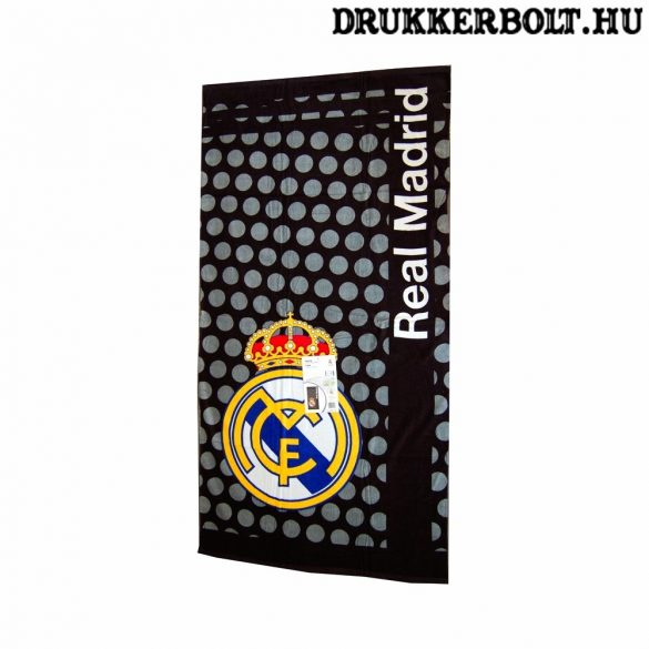 Real Madrid óriás törölköző - eredeti, hivatalos klubtermék! (fekete)