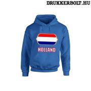 Holland feliratos kapucnis pulóver (kék) - holland válogatott szurkolói pullover / pulcsi