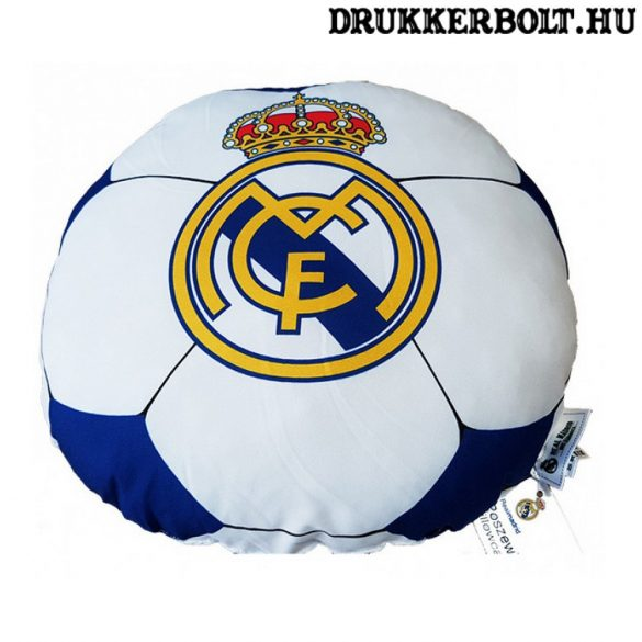 Real Madrid kispárna (focilabda alakú)