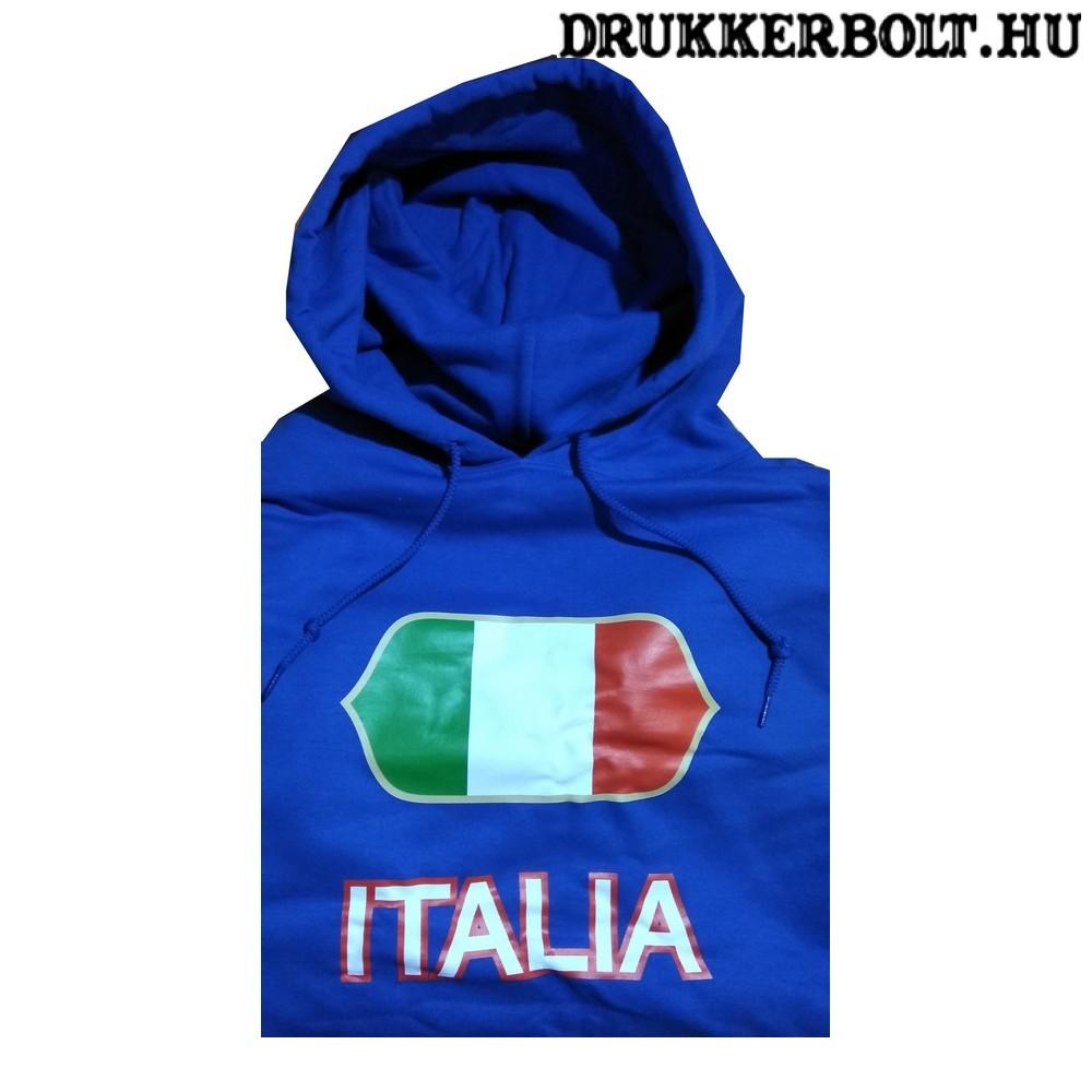 Italia feliratos kapucnis pulóver (kék) - olasz válogatott szurkolói  pullover   pulcsi f515e64953