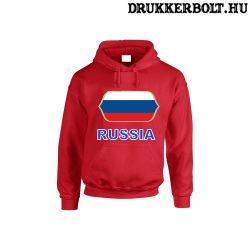 Russia feliratos kapucnis pulóver (piros) - orosz válogatott szurkolói pullover / pulcsi