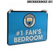 """Manchester City tábla """"elsőszámú szurkoló"""" - """"Manchester City szurkoló szobája"""" tábla"""