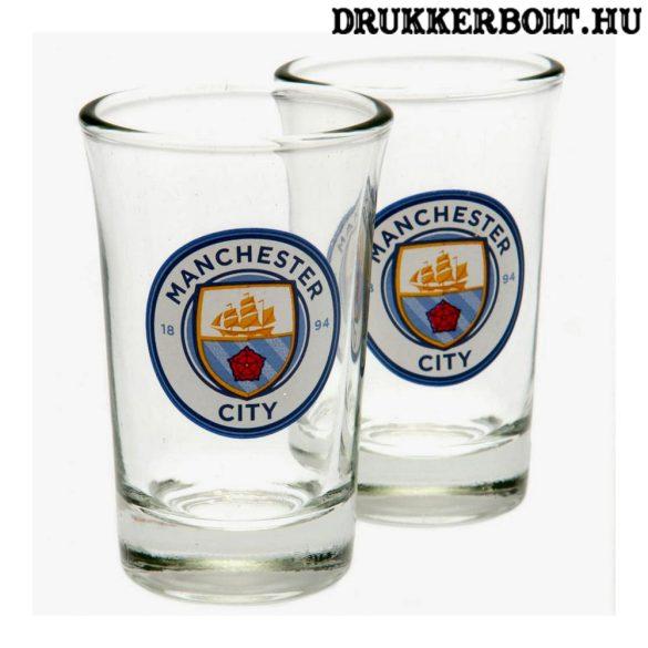 Manchester City felespohár szett - 2 db felespohár City címerrel