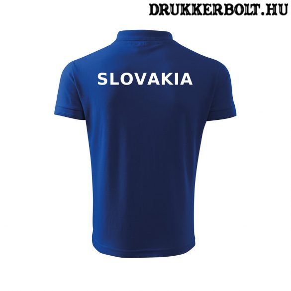 Szlovakia póló szurkolói ingnyakú / galléros póló (kék vagy fehér)
