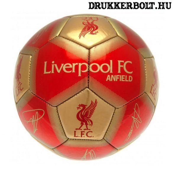 """Liverpool FC """"Signature"""" labda - normál (5-ös méretű) Liverpool címeres focilabda a csapat tagjainak aláírásával"""