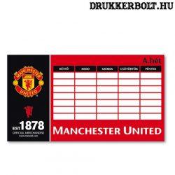 Manchester United órarend (kétoldalas)