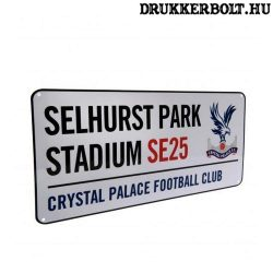 Crystal Palace tábla - eredeti Crystal Palace utcatábla