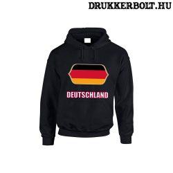 Deutschland feliratos kapucnis pulóver (fekete) - német válogatott szurkolói pullover / pulcsi