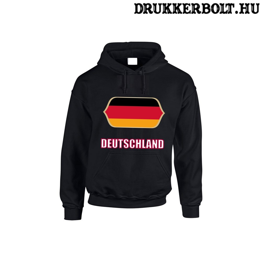 Deutschland feliratos kapucnis pulóver (fekete) - német válogatott  szurkolói pullover   pulcsi 1b5a9308e4