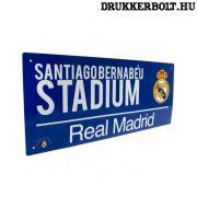 Real Madrid utca tábla (kék) - eredeti, hivatalos klubtermék