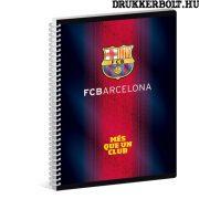 FC Barcelona spirál füzet A/4 méretben (sima)